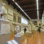 The room full of sculptures