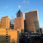 View of the Atlanta sunrise from the 12th floor lounge.