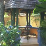 The outside dining area at Coconut Grove