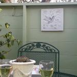 The private patios are really nice and a great place to enjoy you afternoon cheese and wine if y