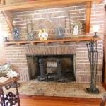 Ford's fireplace..