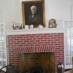 Note the difference between Edison's and Ford's fireplace.Edison's taste was very simple.