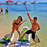 Paddle board rentals and the beach