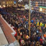 Looking down on the Carnaval from the 1st floor bar