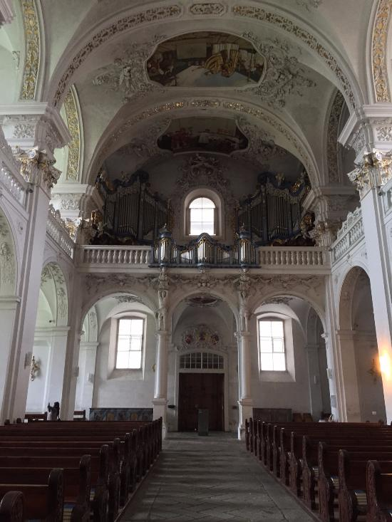 Kloster Disentis - loft where the original organ is played!  Magnificent sound!