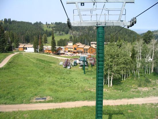 Sioux Lodge Condominiums: Looking Down at Targhee July 2004