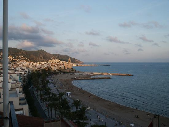 Taken from our room, the beach in Sitges