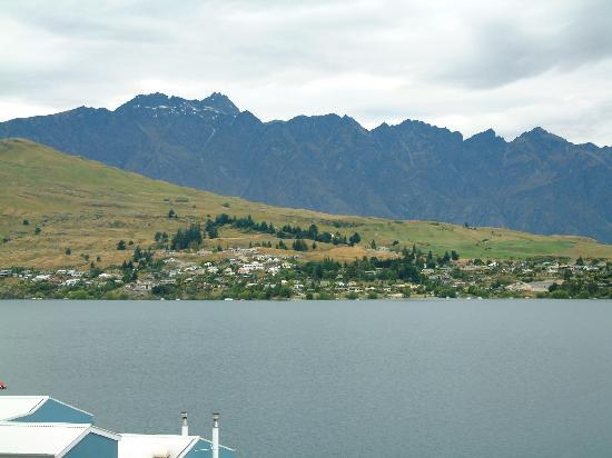 Spinnaker Bay Luxury Condo: View of the Remarkables from our condo