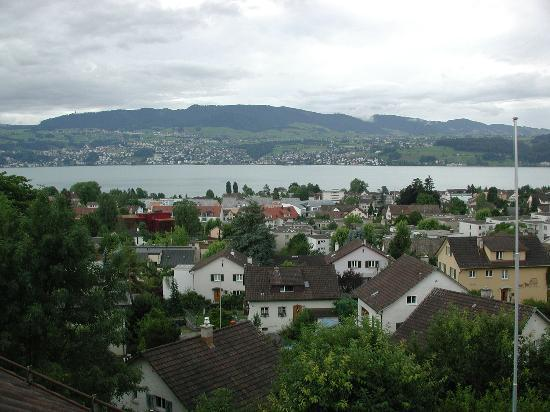 Stäfa, Suiza: View from our room (sorry it's cloudy!)