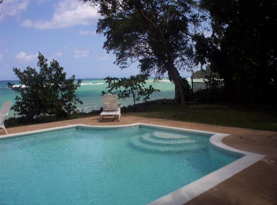 Prospect Plantation: our pool overlooking the ocean