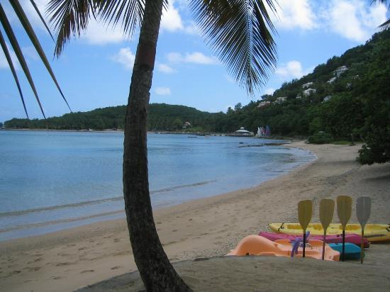Hotel beach front at East Winds Inn, Gros Islet