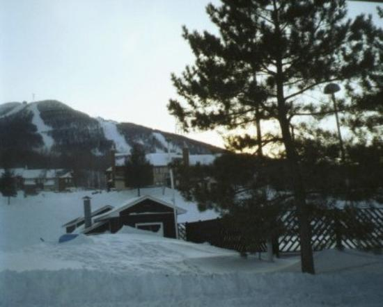 Jay Peak Resort: View out the hotel window.
