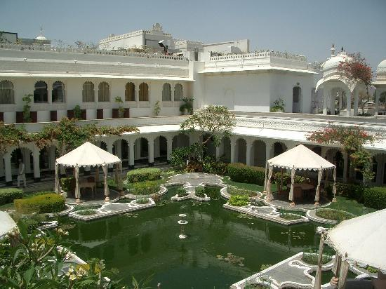 Taj Lake Palace Udaipur: The Lily Pond Courtyard, setting of the Octopussy finale