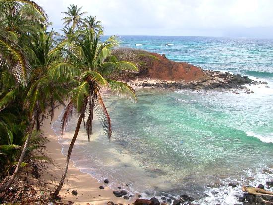 Little Corn Island, Nikaragua: Deserted cove