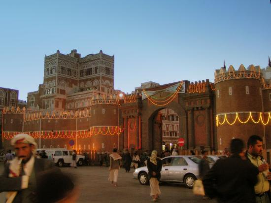 Bab-al-Yaman (The Gate of Yemen) is the point of entry into the Old City of Sanaa