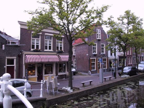 Hotel de Emauspoort: View of hotel from over the canal