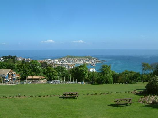 St. Ives, UK: View of St.Ives from hotel grounds.