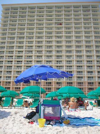 Resorts of Pelican Beach: view from the beach