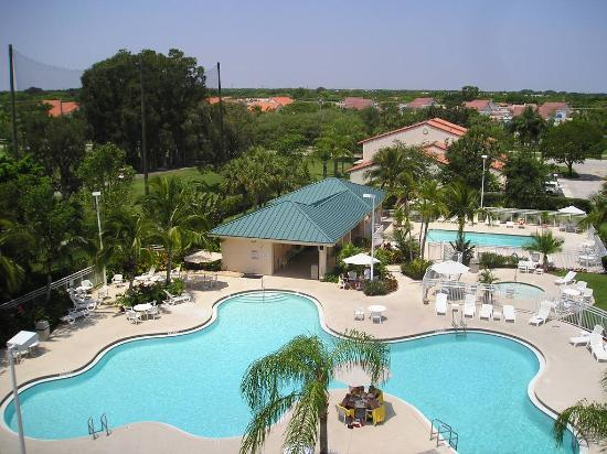 Weston, FL: Pool View from Hebron 1