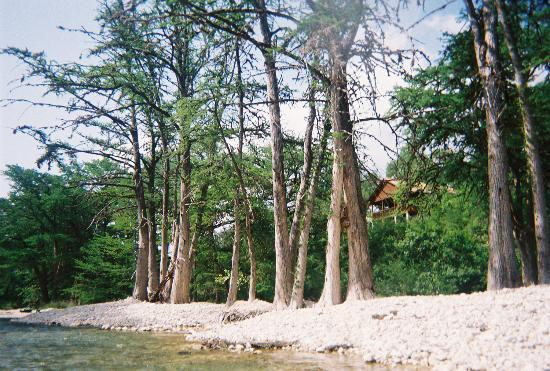 Leakey, TX: View of River Haven from the river