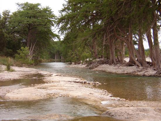 Leakey, TX: River just below River Haven