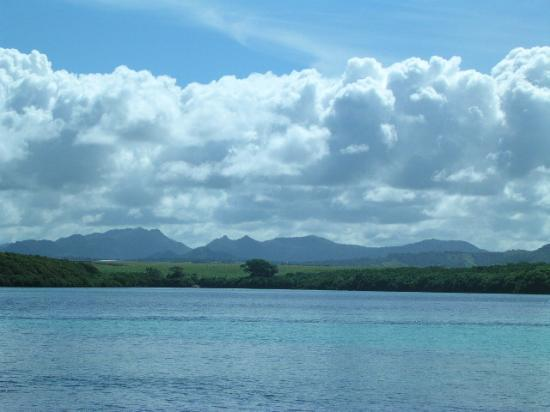 LUX Le Morne: View from Coco Island to Mainland