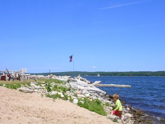 Sturgeon Bay, Висконсин: the beachfront