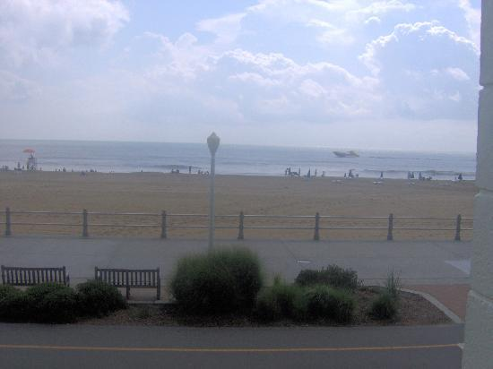 The Seahawk: view of beach from our balcony