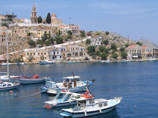 Symi, Greece: View from the Aliki Hotel