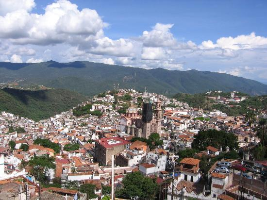 Aerial view of Taxco
