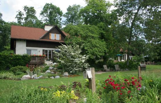 Swiss Woods: The inn from the gardens