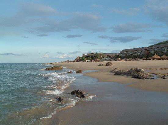 Quy Nhon, Vietnam: private beach with hotel in background