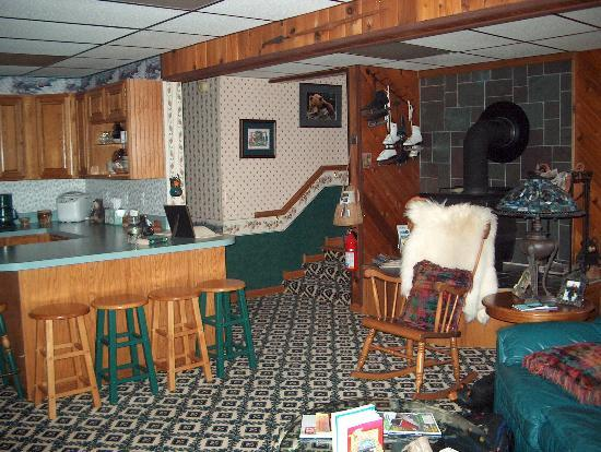 Beary Patch Bed and Breakfast: Family Room with entertainment center and kitchenette