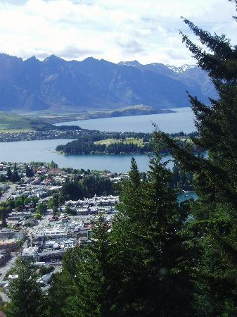 View from up the moutain over Queenstown