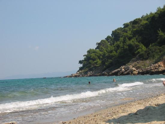 Afitos, Hellas: The beach