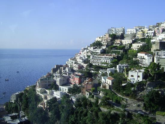 Positano.Aview from the bus