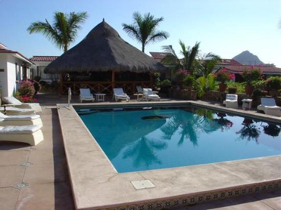 Andalaya Condominiums: large palapa at poolside