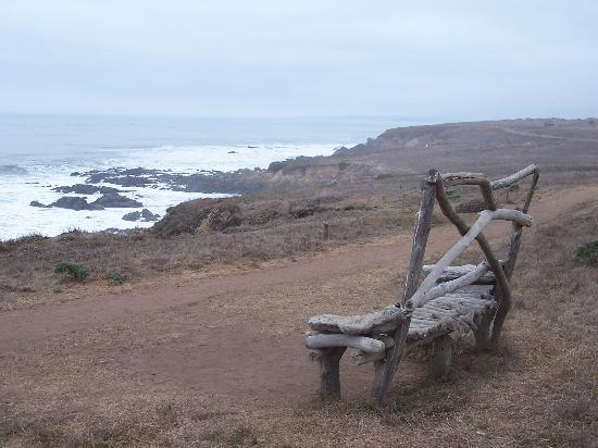 Cambria, Калифорния: A quiet cliff overlooking the ocean