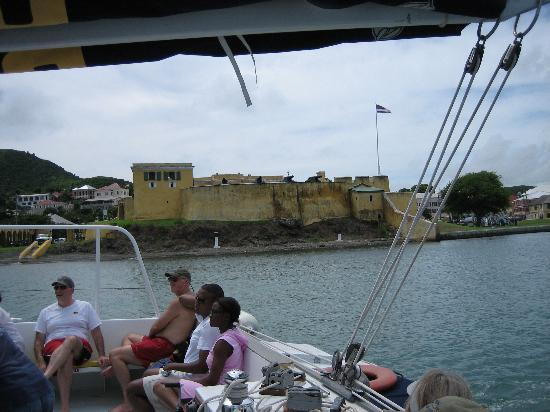 The Palms at Pelican Cove: Buck Island Boat Passing Fort Christiansted