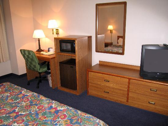 Fairfield Inn Boise: Room 314 dresser, TV, microwave, fridge and desk