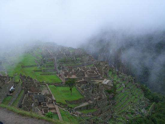 Aguas Calientes, Peru: In the mist