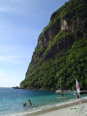 St. Lucia: White Sand Beach of Jalousie (you are lucky to see it)