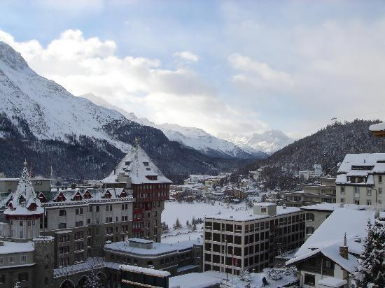 St. Moritz, Zwitserland: View from our window - SW