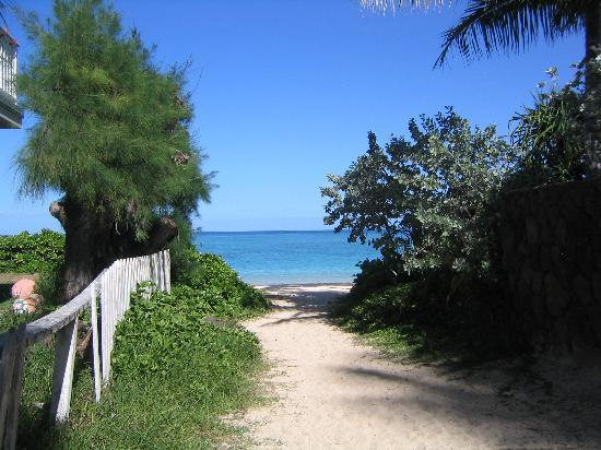 Kailua, Гавайи: Path to Lanikai Beach