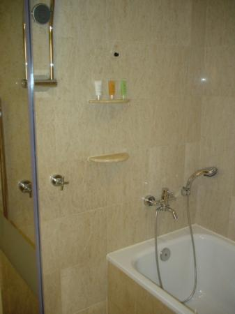 Strange bath and shower configuration picture of for Bathroom configurations