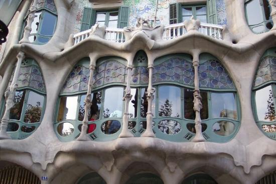 Barcellona, Spagna: Balcony close-up