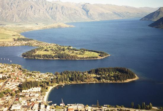 Queenstown, Yeni Zelanda: The Remarkables and Lake Wakatipu