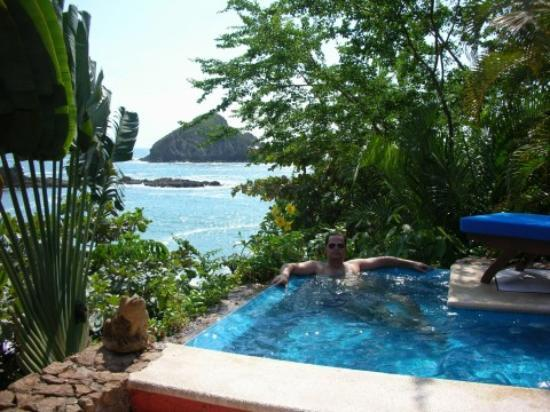 Careyes, Mexico: plunge pool and view