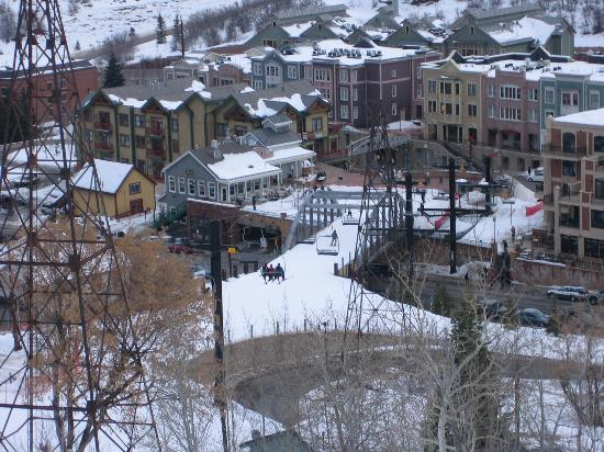 Park Station Resort Condominium: Looking Down on the Town Lift, the Condo is in the Upper Left Side of the Picture