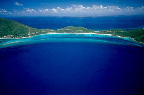 British Virgin Islands: Aerial of Savannah &amp; Pond Bays